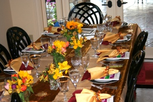 Table Setting at Lajollacooks4u