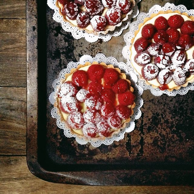 Dishing Out Recipes: Lemon Crème Brûlée Tart with Raspberries